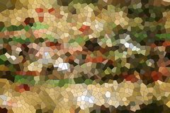 Background. Playful shapes. And forms in green, gray, red, orange and brown hues and colors. Abstract background stock illustration