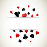 Background with Playing Card Suits Royalty Free Stock Photos