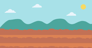 Background of plowed agricultural field. royalty free illustration