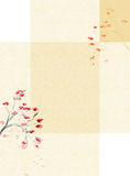Background with a Plum blossom vector illustration