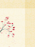 Background with a Plum blossom Royalty Free Stock Photography