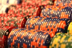 Background Poker Chips Casino Stock Photo
