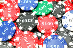 Background of poker chips Royalty Free Stock Image