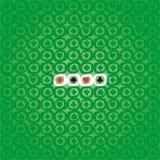 Background of Poker symbols. Green background of Poker symbols Stock Photo