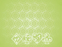 Background of Poker symbols. Green background of Poker symbols Royalty Free Stock Photos