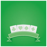 Background of Poker symbols stock images