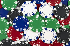 Background of poker tokens Royalty Free Stock Image