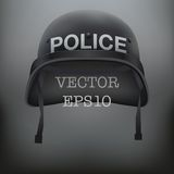 Background of police black helmet vector Royalty Free Stock Photo