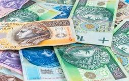 Background of polish banknotes Stock Photography