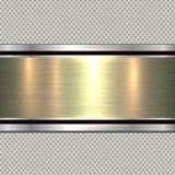Background polished metal Stock Image