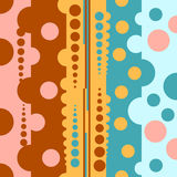 Background with polka dots. Circles of different colors funds Stock Images