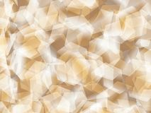 Background. Polygon geomethric brown-white background stock illustration