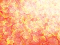 Background. Polygon geomethric red-yellow-orange-white background Vector Illustration