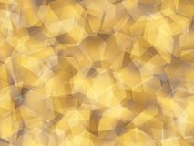 Background. Polygon geomethric yellow-brown background stock illustration
