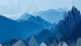 BackGround Polygon Of Mountain Blue. Background, backdrop,mountain,blue,ilutrations polyogon the best for background design banner, brochur or flyer Stock Photos