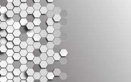 background polygons 3d honeycomb gray Stock Photo