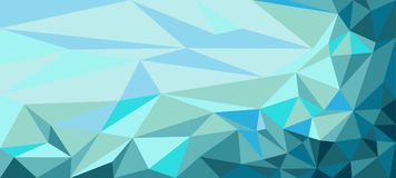 Background of polygons triangles in blue tones. Background of polygons triangles in blue for decoration Stock Images