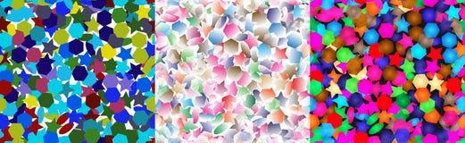 Background of polyhedra. Royalty Free Stock Photo