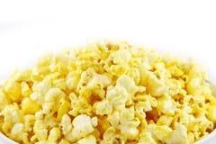 Background of popcorn. Popcorn isolated on white background Stock Photos