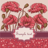 Background with poppies for your text-EPS10. Background with poppies for your text stock illustration