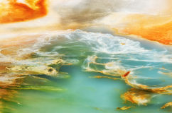 Background  of Porcelain Basin in Yellowstone national park, USA Stock Image