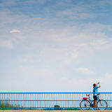Background for poster or advertisment pertaining to cycling Royalty Free Stock Image