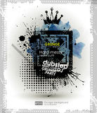 Background for poster in grunge style. Grunge print for t-shirt. Abstract texture background for party Vector Illustration