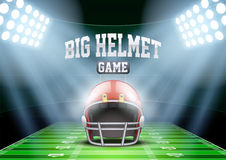 Background for posters night american football Stock Photo