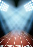 Background for posters night athletics stadium in Stock Photo