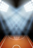 Background for posters night basketball stadium in Royalty Free Stock Images