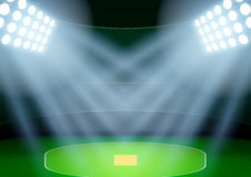 Background for posters night cricket stadium in the spotlight. Vector Stock Photography