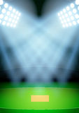 Background for posters night cricket stadium in the spotlight. Vector Royalty Free Stock Photography