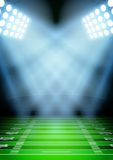 Background for posters night football stadium in