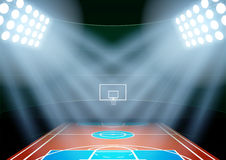 Background for posters night multisport stadium in Royalty Free Stock Image