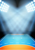 Background for posters night multisport stadium in the spotlight. Vector Stock Image