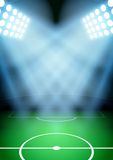 Background for posters night soccer football Stock Photo