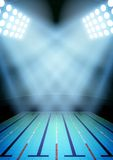 Background for posters night swimming pool in the Stock Images