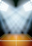 Background for posters night tennis stadium in the Stock Photo