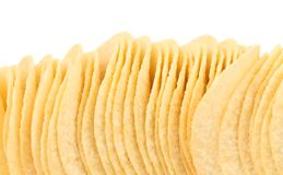 Background of potato chips. Stock Photos