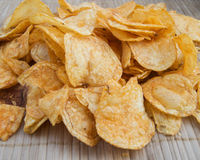 Background potato chips Royalty Free Stock Images