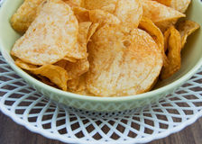 Background potato chips Royalty Free Stock Photo