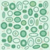 Background with precious green shapes  Royalty Free Stock Images