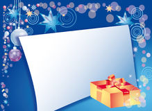 Background with present and field for letter Royalty Free Stock Photography