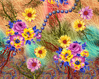 Background pattern With Flower stock image