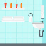 Background of private bathroom. Royalty Free Stock Images
