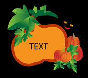 Background with a pumpkin. Frame, background with a pumpkin. Vector illustration Stock Images