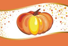 Background with Pumpkin. Illustration of  Pumpkin  for Thanksgiving Stock Photography