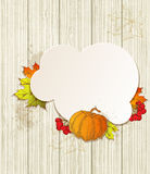 Background with pumpkin and leaves Stock Photos