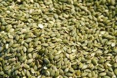 Background of pumpkin seeds Stock Image