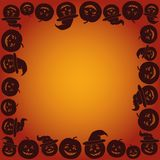Background with Pumpkins Jack O Lantern Stock Image